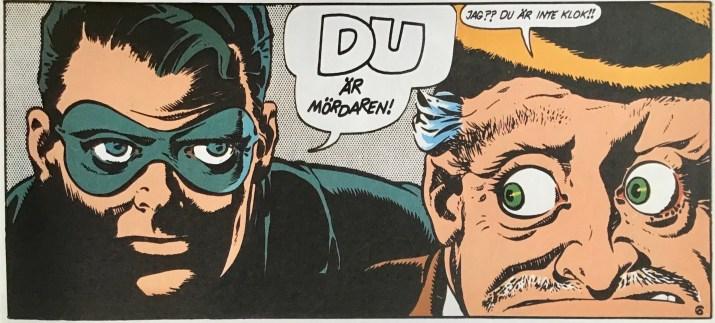 En serieruta ur episoden Vem mördade Cox Robin? ©Eisner