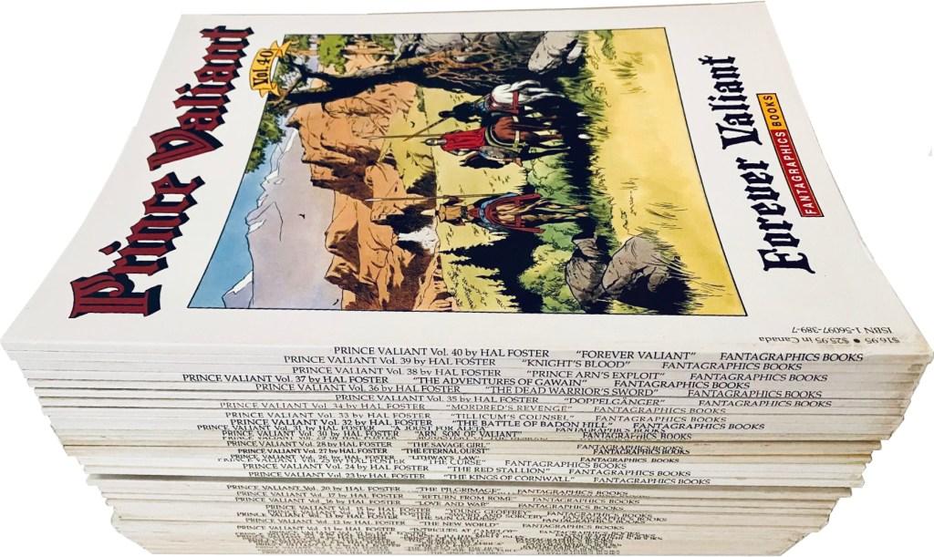 Det utkom en mängd seriealbum med Prince Valiant (1987-2004). ©Fantagraphics
