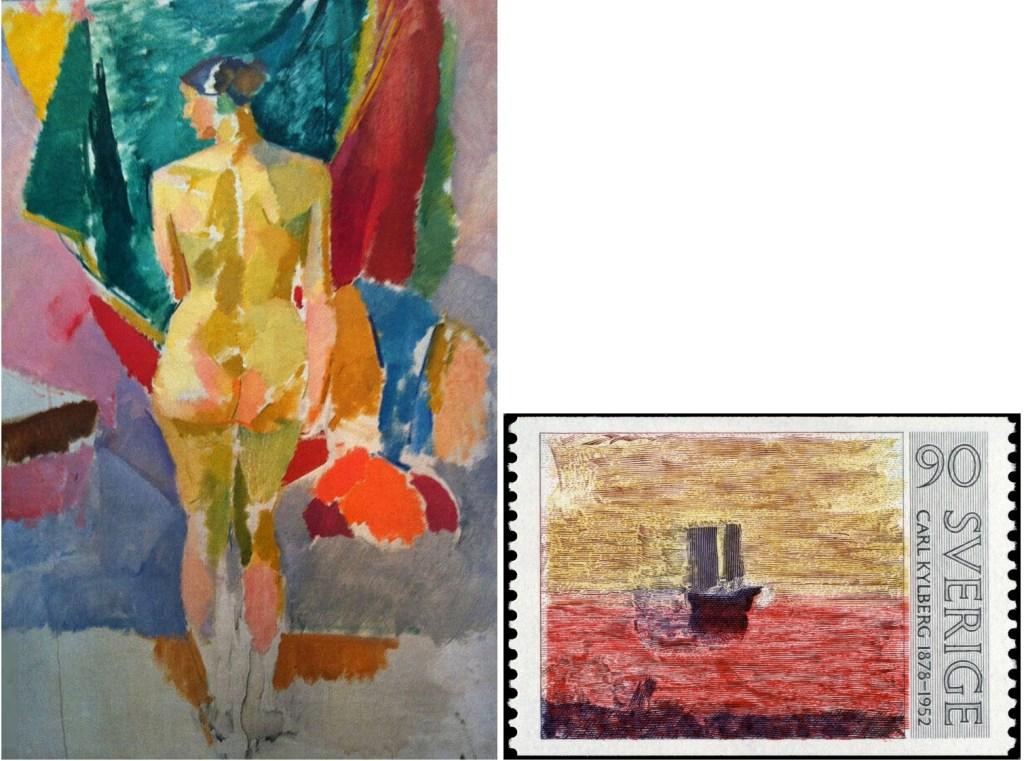Förlagan till Stående modell, och frimärket Hemkomsten (1978). ©PostNord