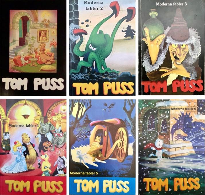 Det utkom sex volymer Moderna fabler med Tom Puss (1979-87). ©Alvglans