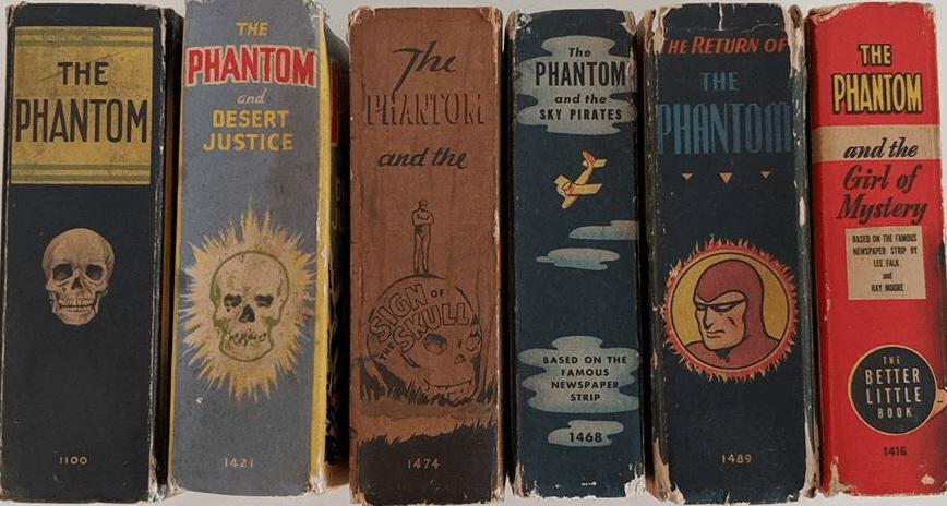Några Big (och Better) Little Books med The Phantom. ©Whitman
