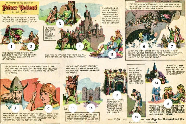 Söndagssida #2000 hade 15 teckningar av Hal Foster. ©KFS
