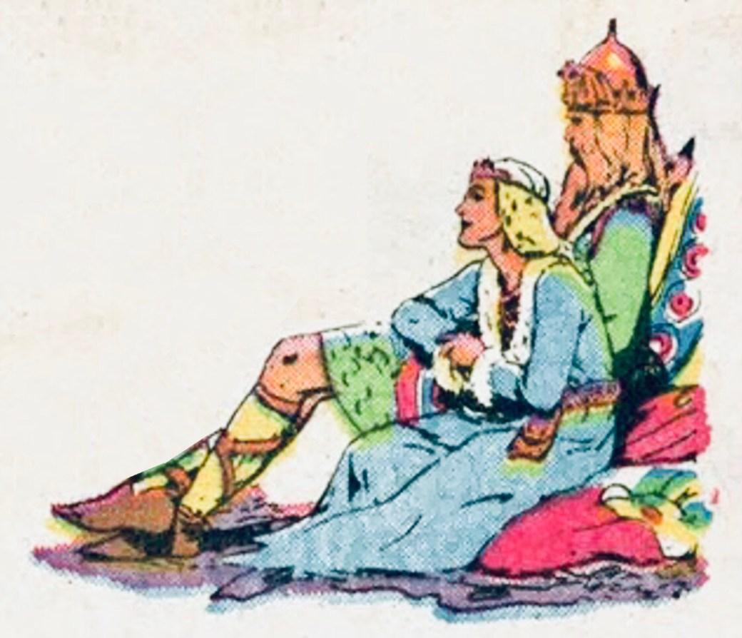 Prins Valiants möte med kung Arthur och drottning Guinevere blev även det uppmärksammat i söndagssida #2000. ©KFS