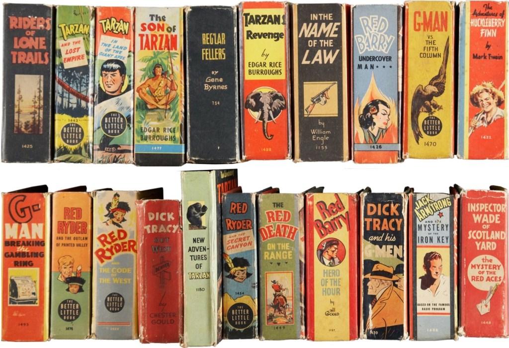 Många tecknade serier och annan populärkultur utkom som Big Little Book. ©Whitman