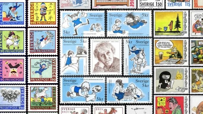 Svenska serier som frimärken