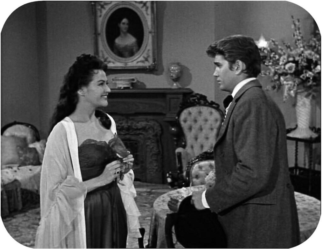 Första avsnittet med Bröderna Cartwright, En ros till Lotta (A Rose for Lotta) sändes i svensk TV den 26 december 1959. I USA hade serien premiär den 12 september samma år. ©NBC