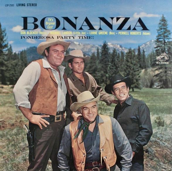 Omslag till LP med Bonanza-gänget. ©RCA