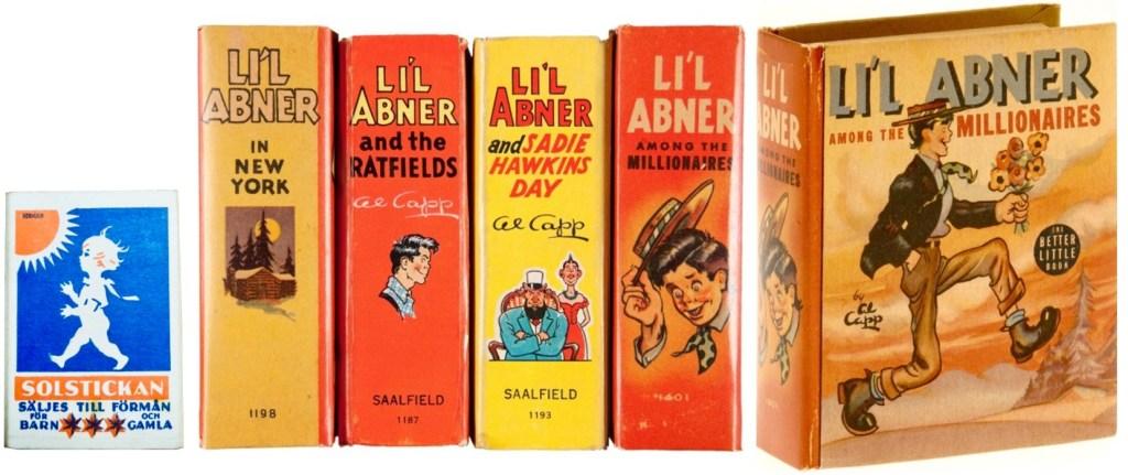 Några Big Little Books med Li'l Abner (1936-40). Whitman/Saalfield