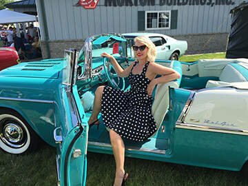 babe in Belair at car show