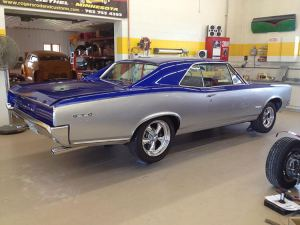 1966 Pontiac GTO in the shop