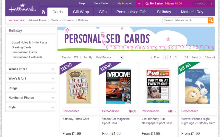 Hallmark cards website