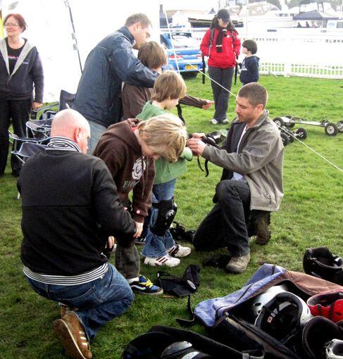Teaching Mountainboarding at Norwich Fair