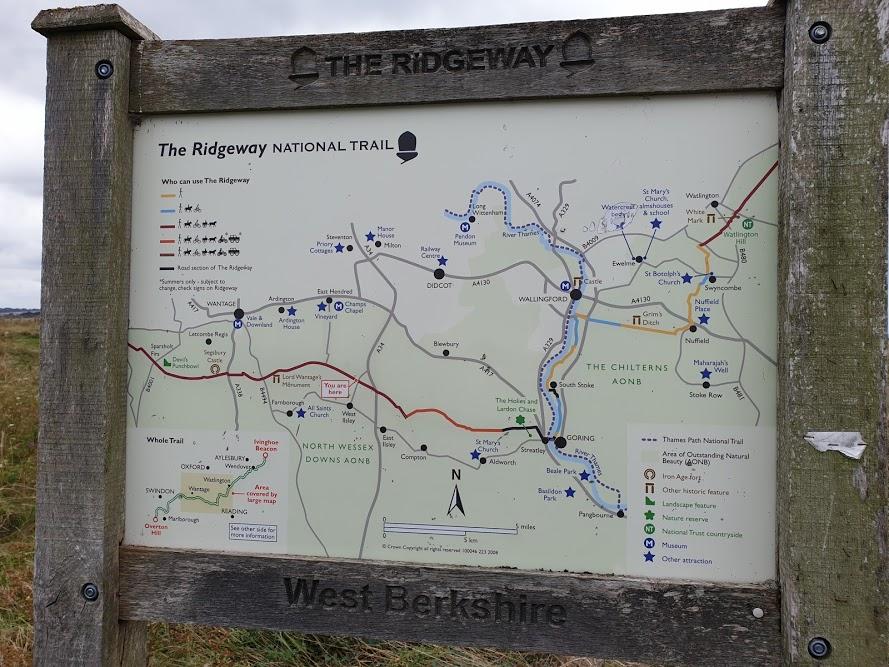 Ridgeway walk - Goring to Sparshot Firs
