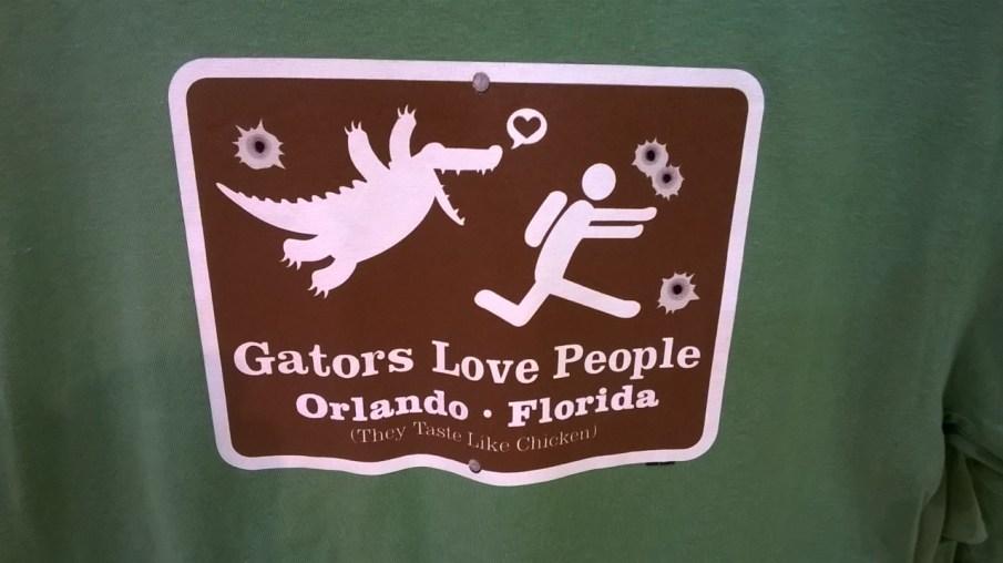 Alligators love people
