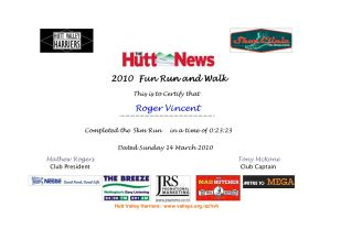 Hutt News Fun run