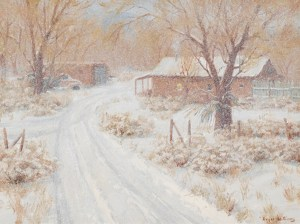 Chamisa in winter