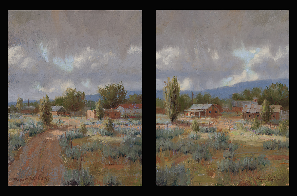 Before the Storm<br />2/ 12 x 16 Oil Diptych