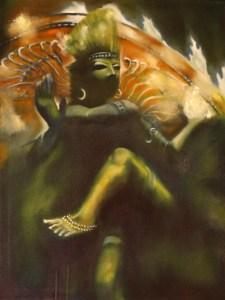 Shiva, hindu, shakti, shamanism, Roger Williamson symbolic mythological artist. . Original fine art oil paintings, tarot cards and greeting cards, prints and posters.