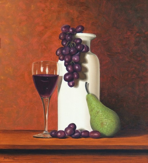 Grapes Wine and Pear