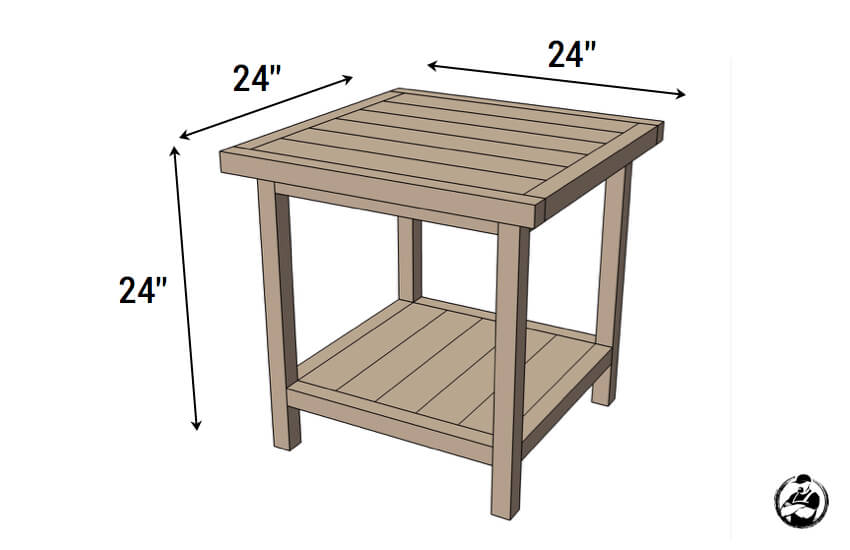 Simple Square Side Table { FREE DIY Plans } Rogue Engineer