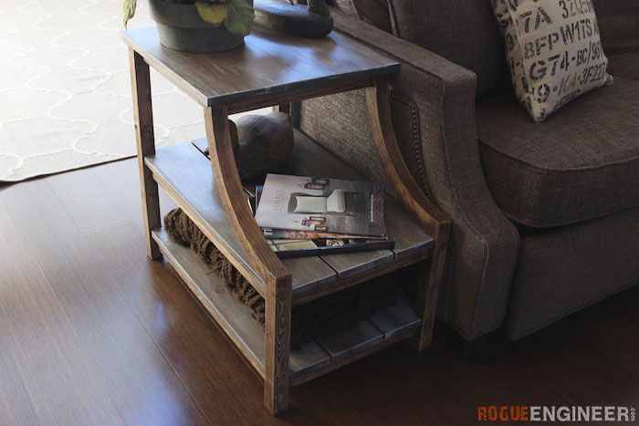 Small Narrow Side Table