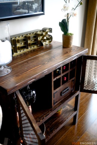 DIY Bar Cabinet Plans - Rogue Engineer 6