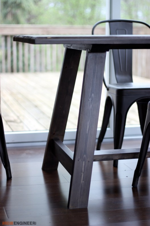 Compound Leg DIY Dining Table Plans - Rogue Engineer 5