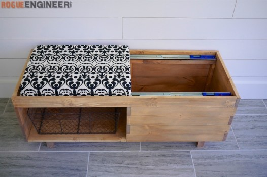 DIY Storage Bench Plans - Rogue Engineer 4