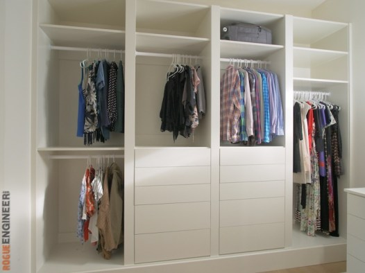 DIY Master Closet Plans Rogue Engineer 1