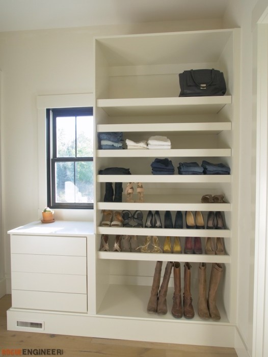 DIY Master Closet Plans Rogue Engineer 3