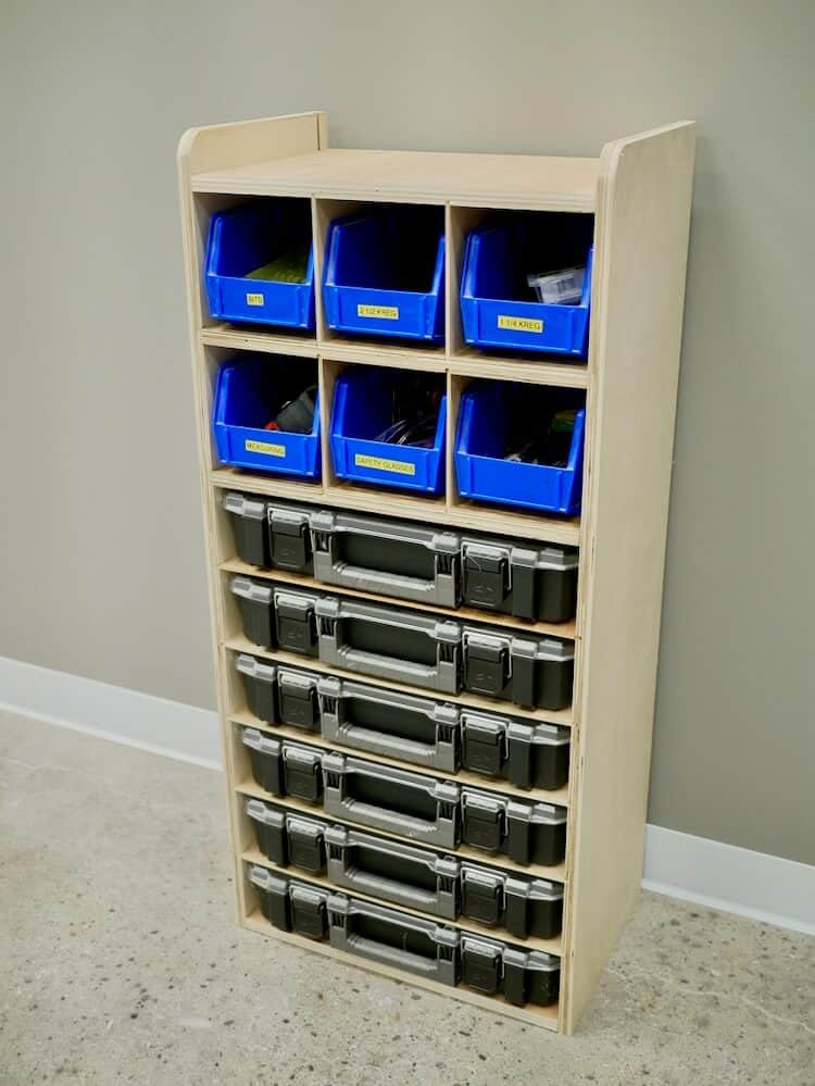 DIY Small Parts Organizer Plans Rogue Engineer 3