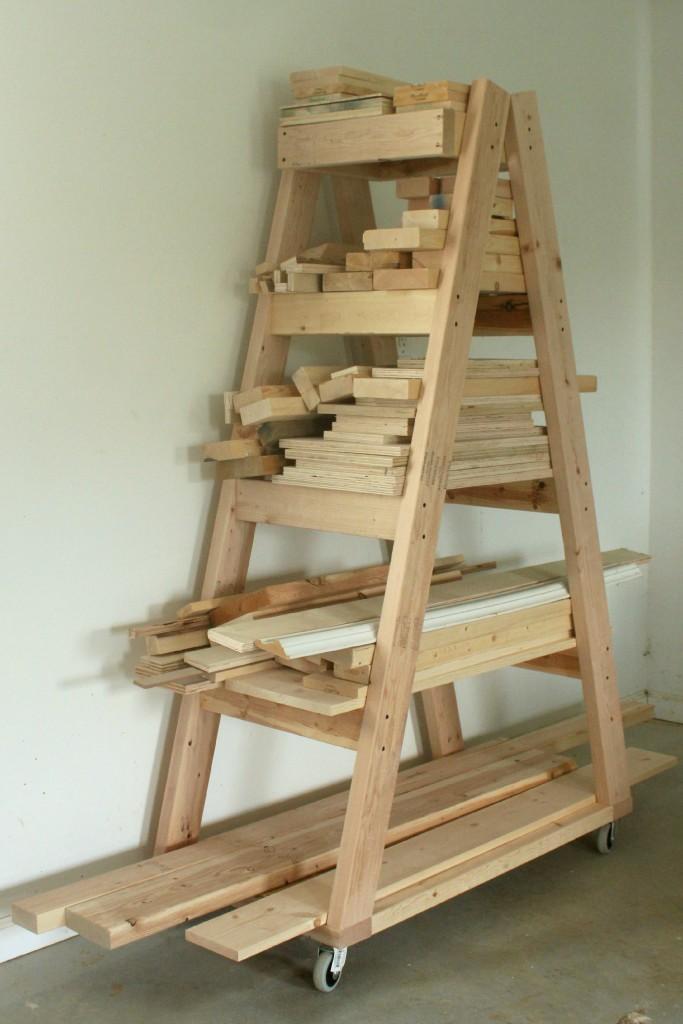 easy portable lumber rack free diy