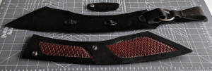 Scabbard partially assembled