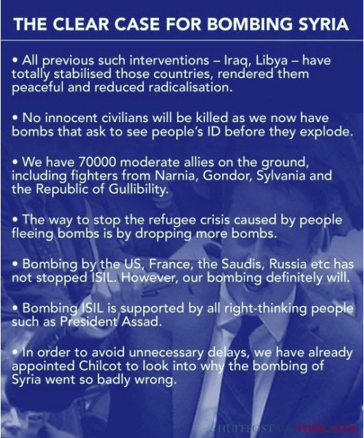 CAMERON'S PSYCHOPATHIC FALLACIES ON SYRIA