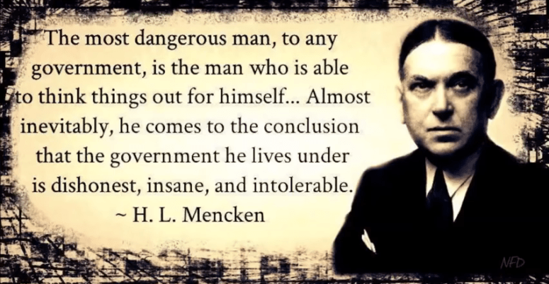 MENCKEN ON FREE THINKING MAN