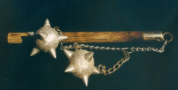 Sand casting was used to make this functional double battle flail.