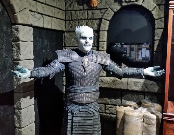 White Walker King's fiberglass crest.