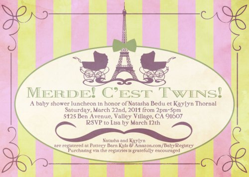 Baby Shower Invite: Graphic Design