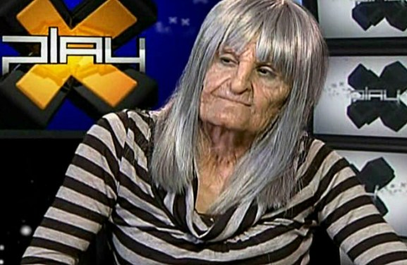Silicone old age on Morgan Webb for an episode of X-Play.