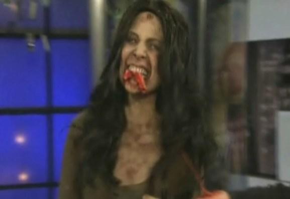 Olivia Munn rips the flesh off an intern's arm.