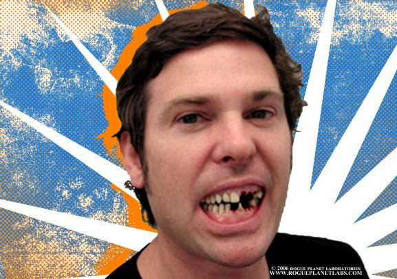 Henry Thomas in action with our dental appliance on the set of Red Velvet.