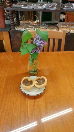 On a roadtrip to Bancroft, Roguetrippers stopped at Hidden Goldmine bakery in Madoc, Ontario for some butter tarts.