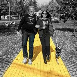 Roguetrippers follow the Yellow Brick Road with RandomsTravels in Chittenango, New York - the home of Oz-Stravaganza.