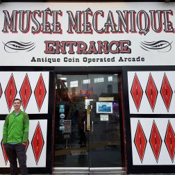 Entrance to Musee Mecanique on Fisherman's Wharf in San Francisco.