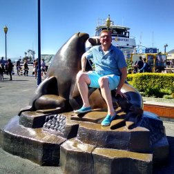 There is a lovely statue at Fisherman's Wharf dedicated to the Sea Lions of Pier 39. Roguetrippers member Nick will pose with any statue.