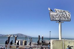 View of Alcatraz Island at San Francisco's FisherMan's Wharf, where Roguetrippers enjoyed a walkable adventure.