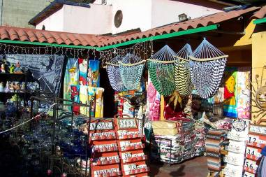 Tijuana marketplace where you can buy many hand crafted items to take home after your day trip.