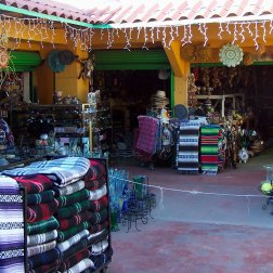 Mexican Handicrafts, blankets, and Serapes in Tijuana.