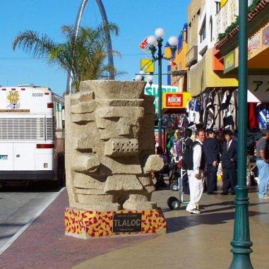 Sculptures on the Avenida Revolucion in the heart of Tijuana, Mexico.
