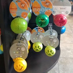 Some durable and fun dog toys to bring on a Road Trip with your Dog to keep them busy and active.